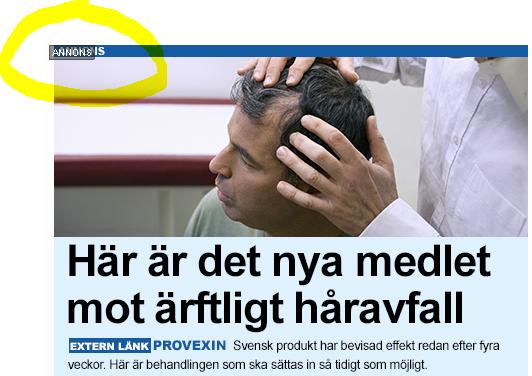 Provexin medel mot håravfall